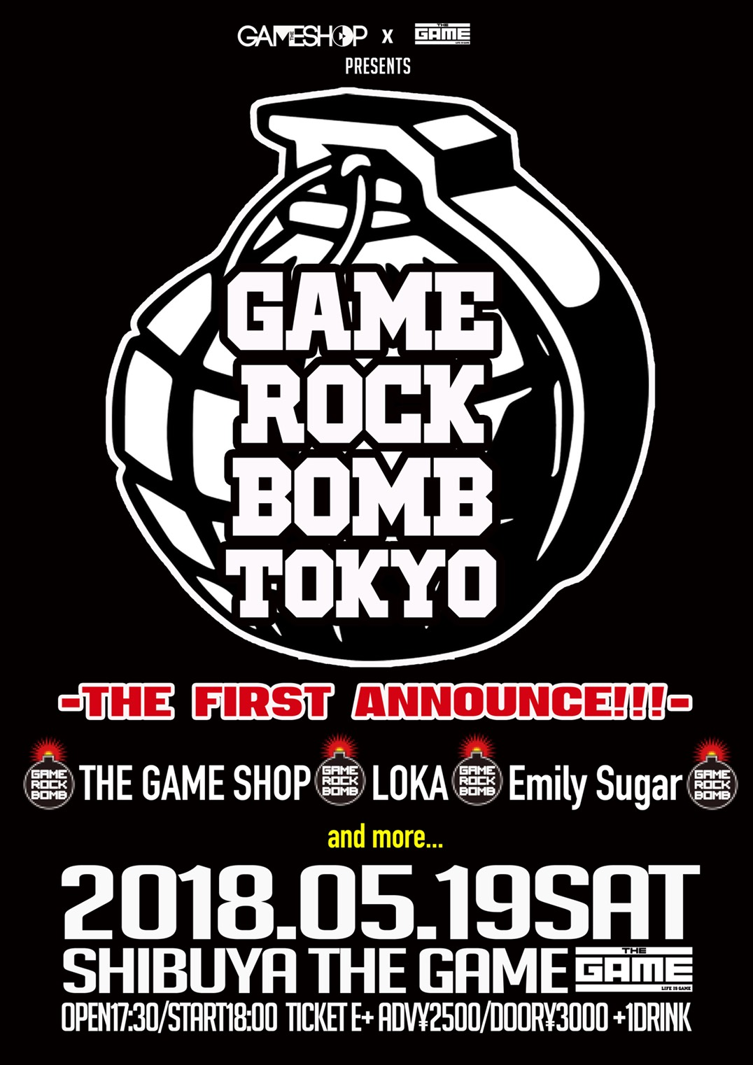 【Emily Sugar】2018.05.19 渋谷THE GAME『AME ROCK BOMB TOKY』